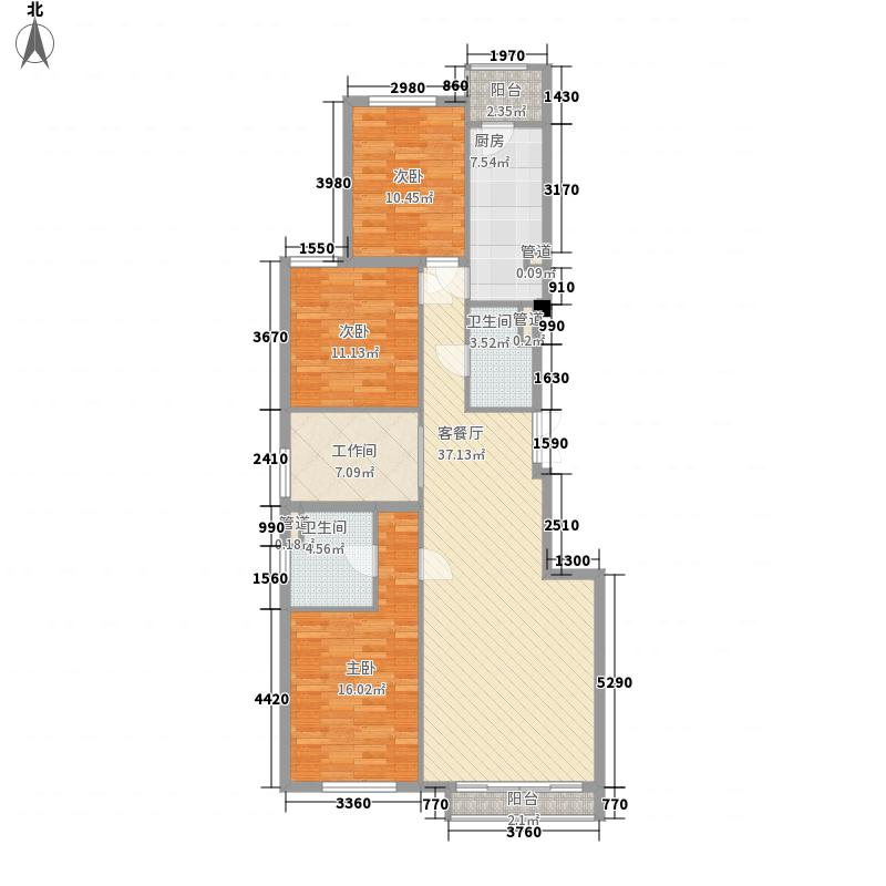 易构空间户型3室2厅2卫1厨
