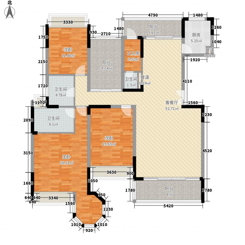花样年君山别墅186.00㎡花样年君山别墅户型图1栋标准层06户型3室2厅2卫户型3室2厅2卫