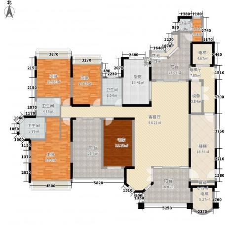 花样年君山别墅4室1厅4卫1厨297.38㎡户型图