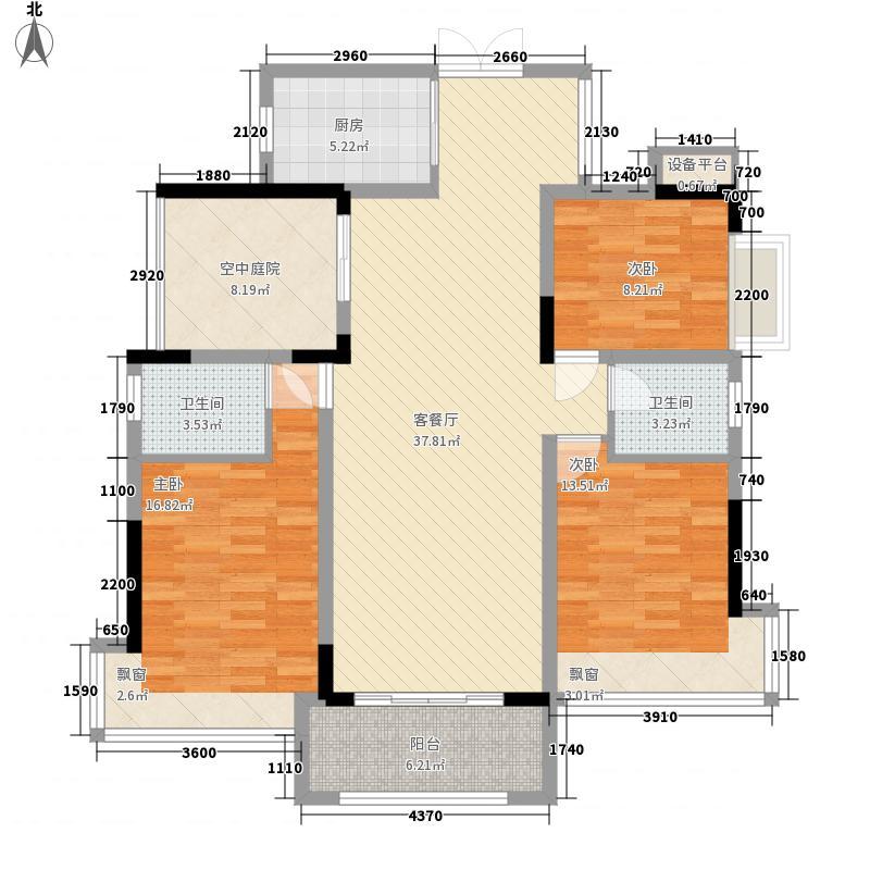 汇荣桂林桂林12.00㎡E户型3室2厅2卫1厨