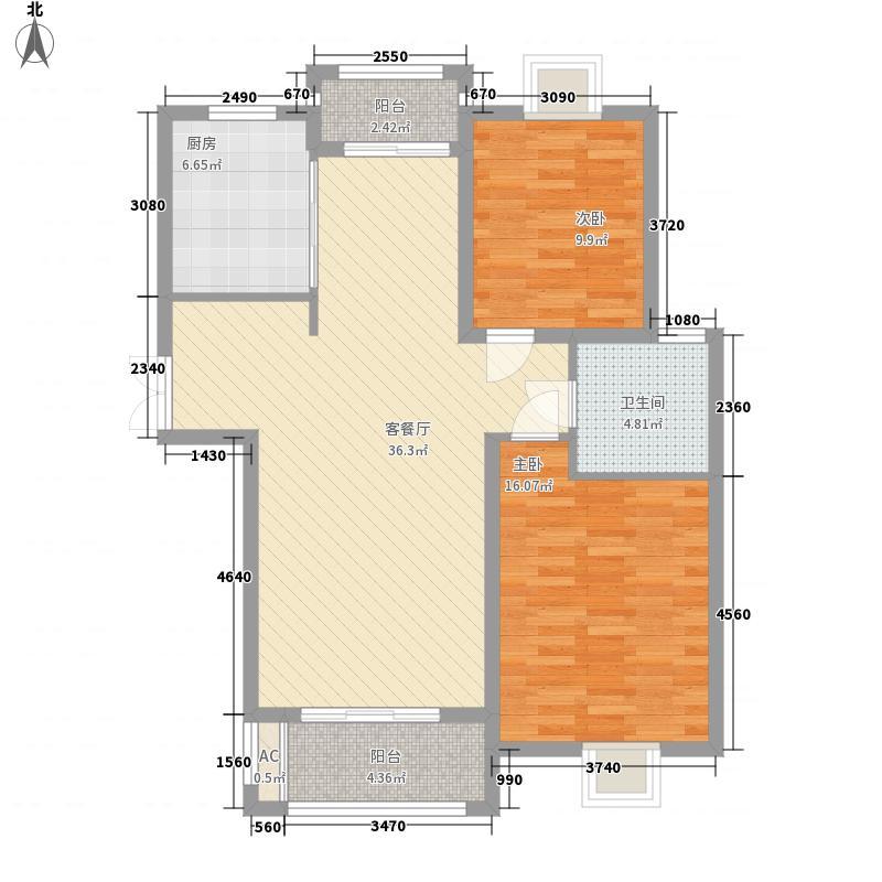 南国花园115.00㎡南国花园2室户型2室