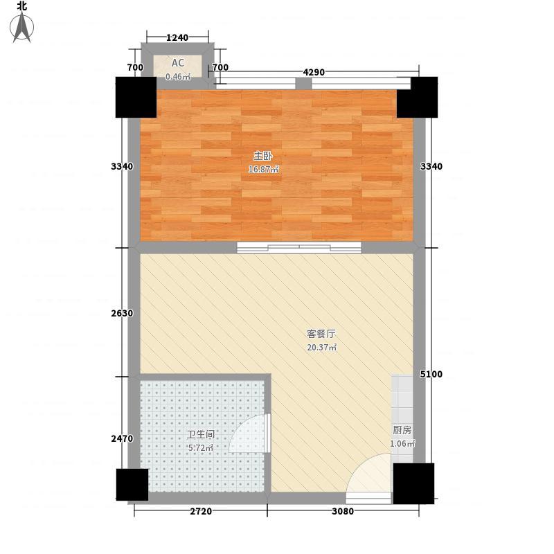泰达国际公寓标准层C户型