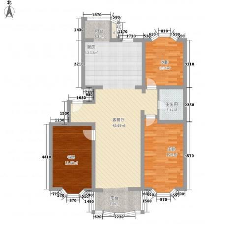 京南嘉园3室1厅1卫0厨114.00㎡户型图