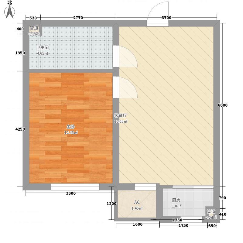温哥华森林40.25㎡温哥华森林户型图18层小高层户型-11室2厅1卫1厨户型1室2厅1卫1厨