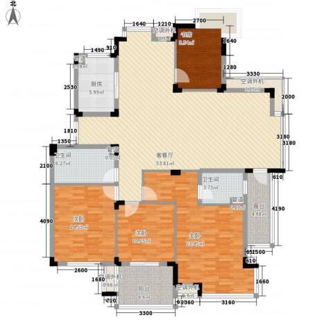 天目星城4室1厅2卫1厨201.00㎡户型图