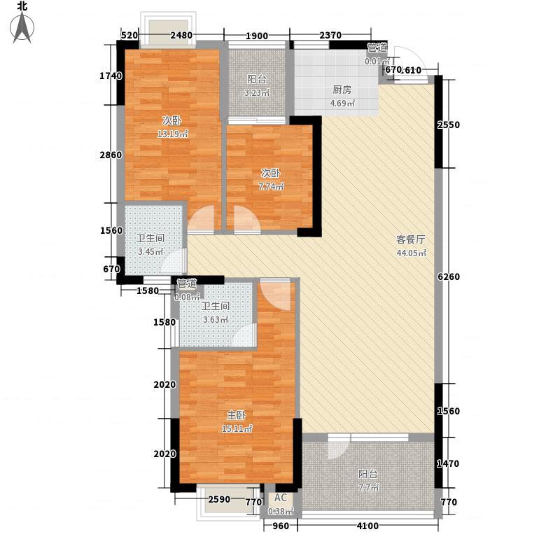 骋望骊都127.00㎡C2-3-01户型3室2厅1卫1厨
