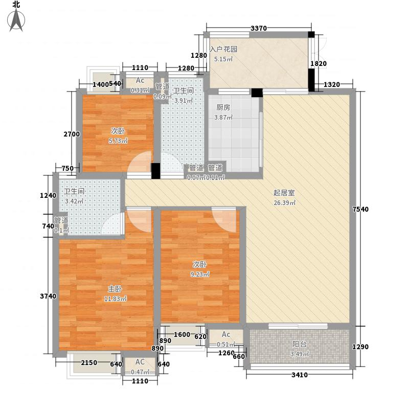 楚岳山庄18.00㎡户型4室