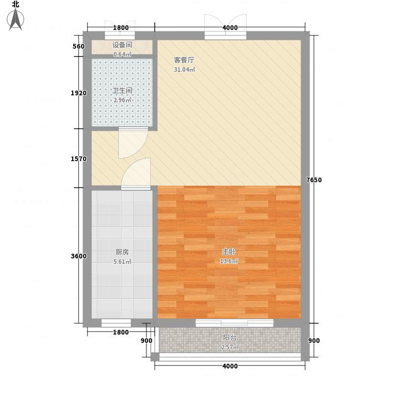 台安27656.76㎡户型1室1厅1卫1厨