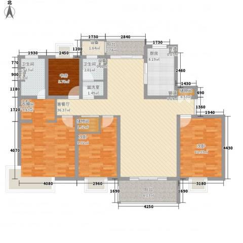 鹏欣一品漫城四期公寓4室1厅2卫1厨160.00㎡户型图
