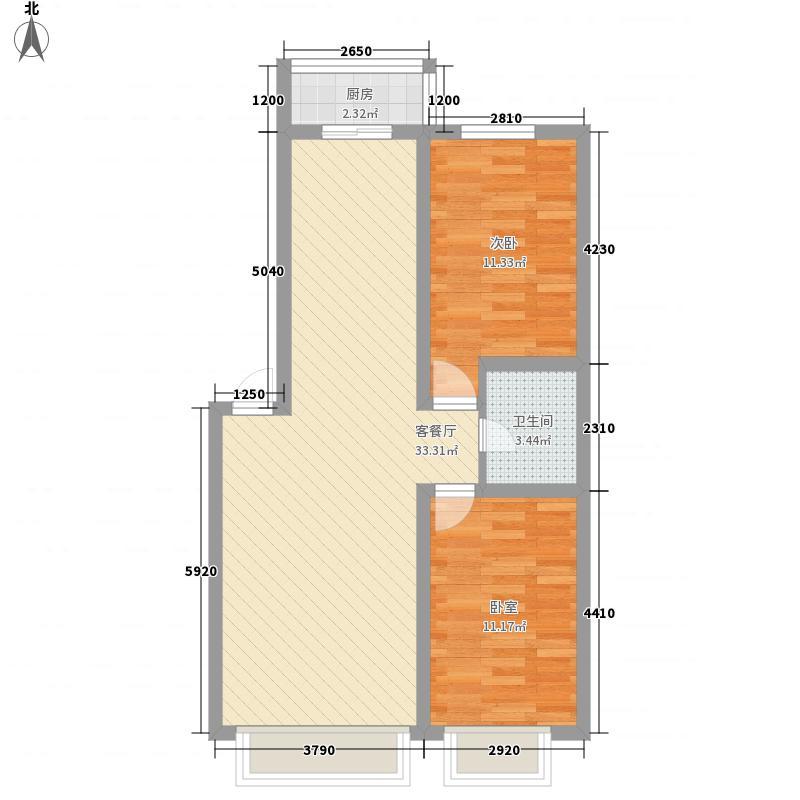 富城国际花园88.00㎡富城国际花园D户型10室