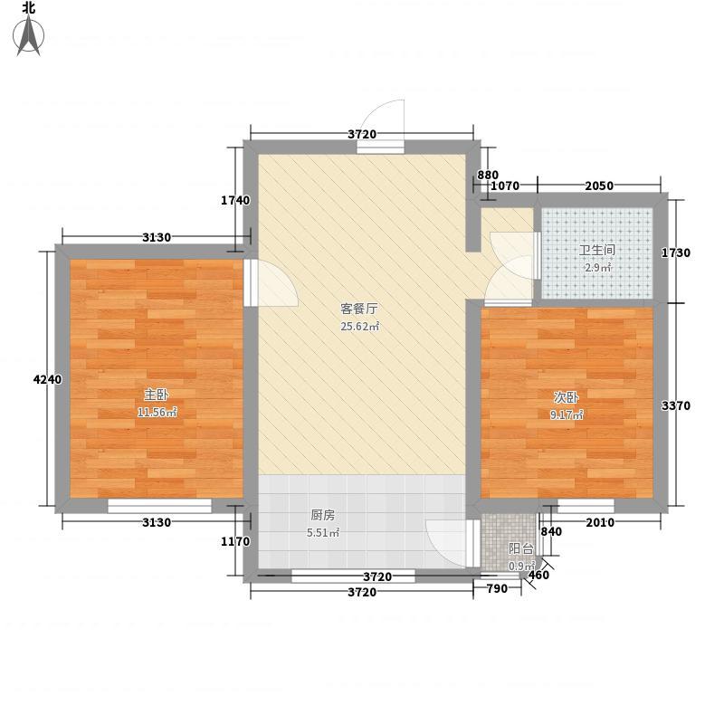 祥和花园70.92㎡祥和花园70.92㎡2室1厅1卫1厨户型2室1厅1卫1厨