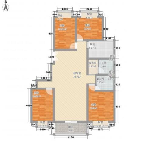 福润康城4室0厅2卫1厨148.00㎡户型图