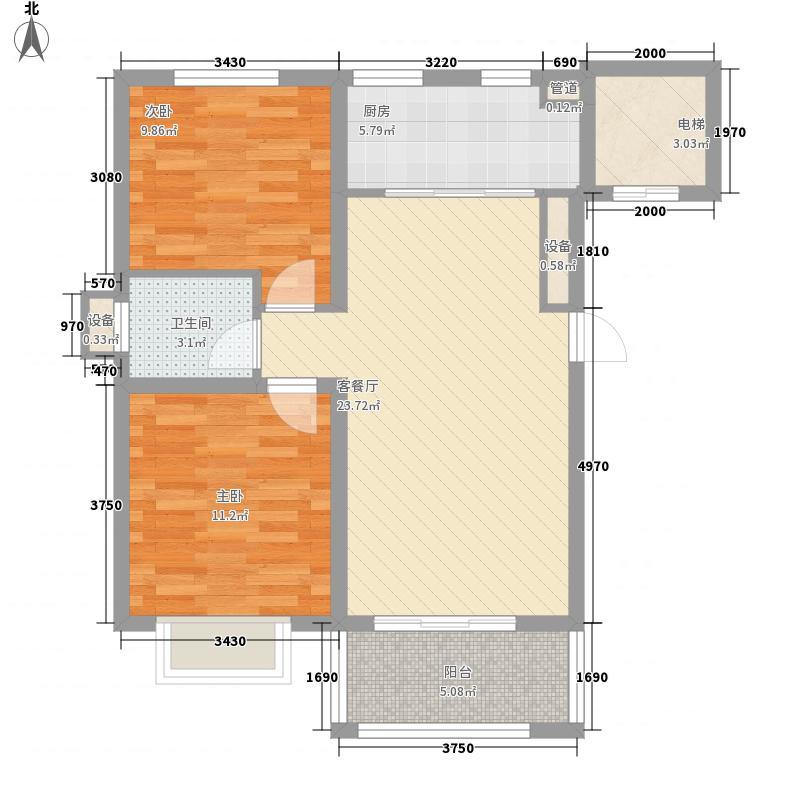 文景苑91.00㎡文景苑户型图C户型2室2厅1卫1厨户型2室2厅1卫1厨