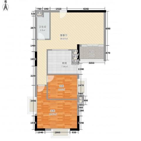 富邦名寓2室1厅1卫1厨102.00㎡户型图