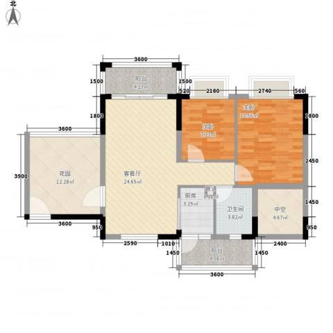 南星大厦2室1厅1卫1厨111.00㎡户型图