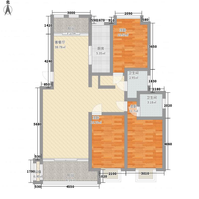 吉安公馆13.80㎡1期3#标准层G户型3室2厅2卫