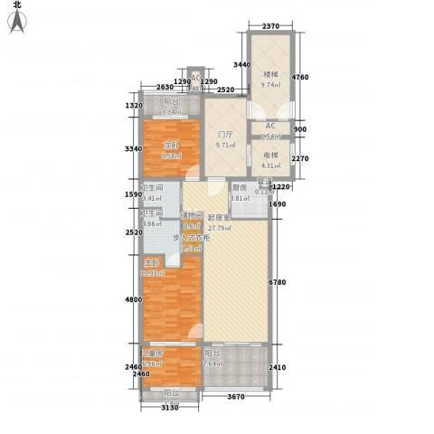 海阔天空3室0厅2卫1厨110.49㎡户型图