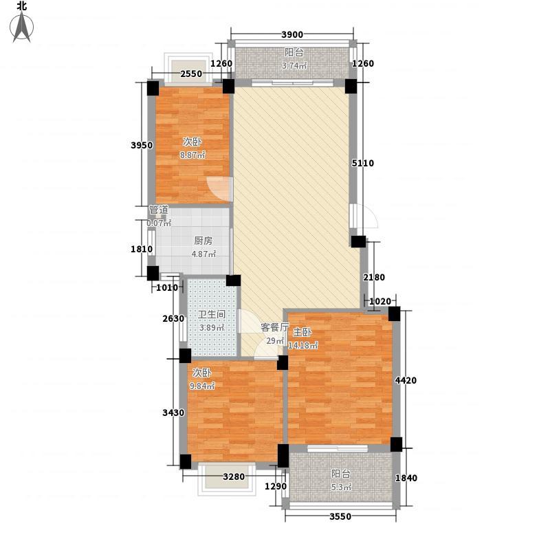 正祥一品新筑95.00㎡正祥一品新筑户型图A户型3室2厅1卫1厨户型3室2厅1卫1厨