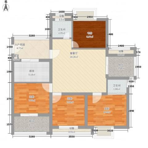 华亚海岛假日4室1厅2卫1厨108.00㎡户型图