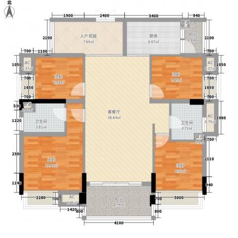 盈拓郦苑4室1厅2卫1厨120.00㎡户型图