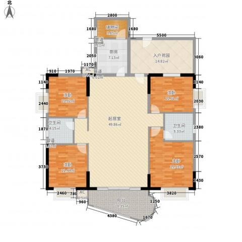 明怡苑4室0厅2卫1厨201.00㎡户型图