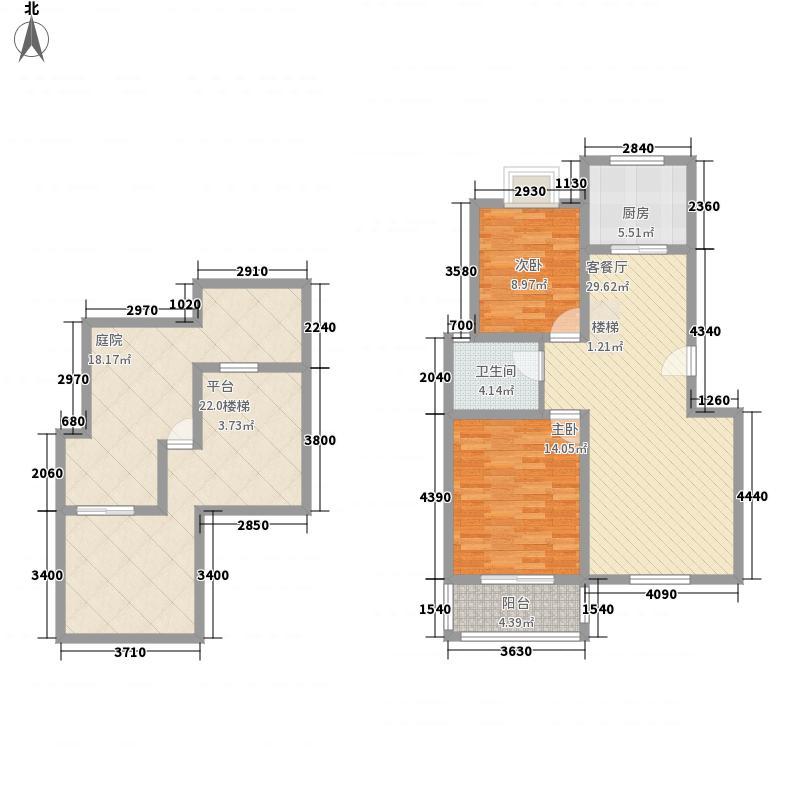 天鹅湖127.26㎡天鹅湖户型图C1复式户型3室2厅1卫1厨户型3室2厅1卫1厨