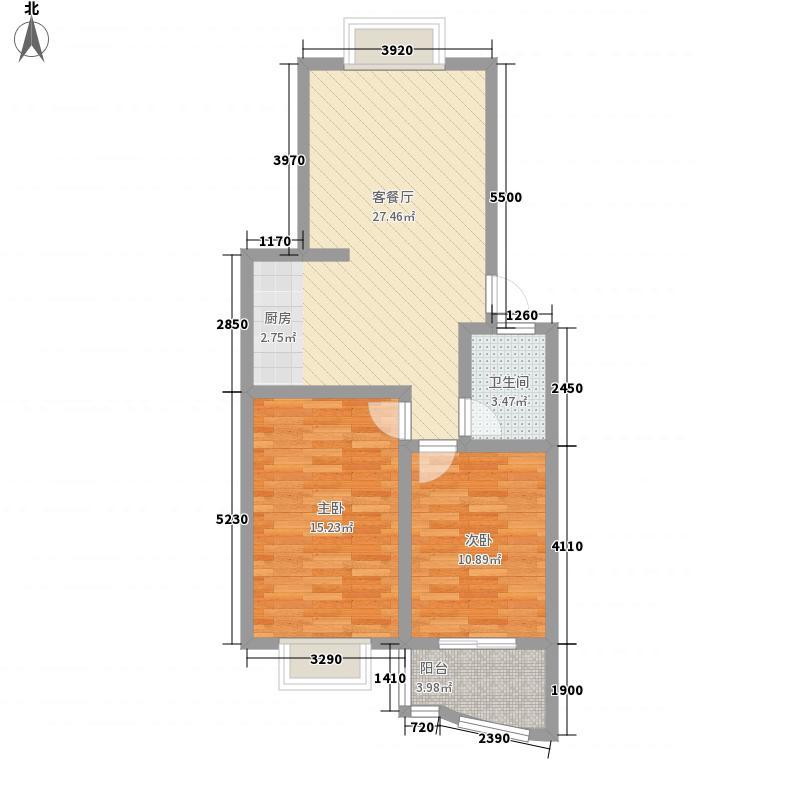 山水城87.50㎡山水城户型图D户型2室2厅户型2室2厅