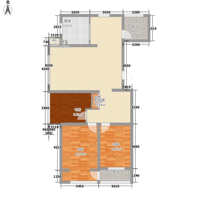 海德公园118.00㎡海德公园户型图3室2厅1卫户型10室