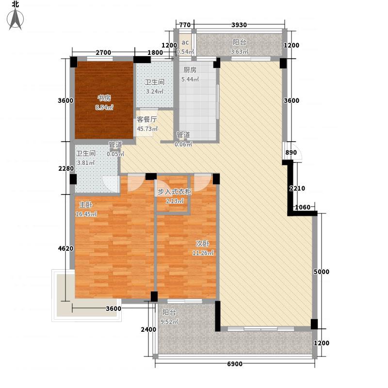 枫丹白鹭130.39㎡枫丹白鹭户型图3室2厅2卫户型10室