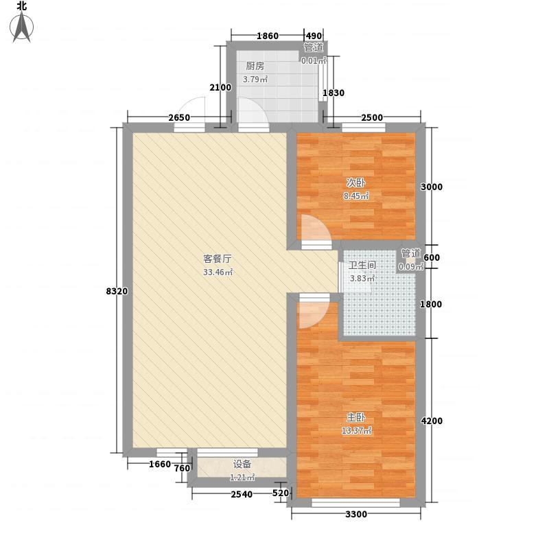 五河新村70.00㎡五河新村2室户型2室