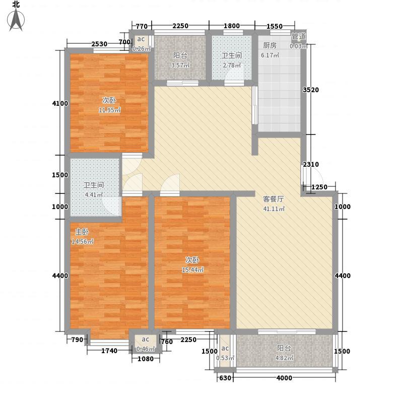 环岛豪庭户型图三室 3室2厅2卫1厨