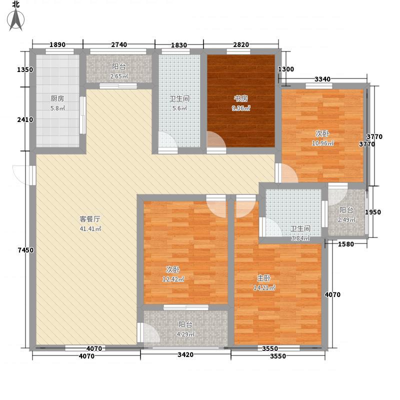 中坤苑163.00㎡D户型4室2厅2卫1厨