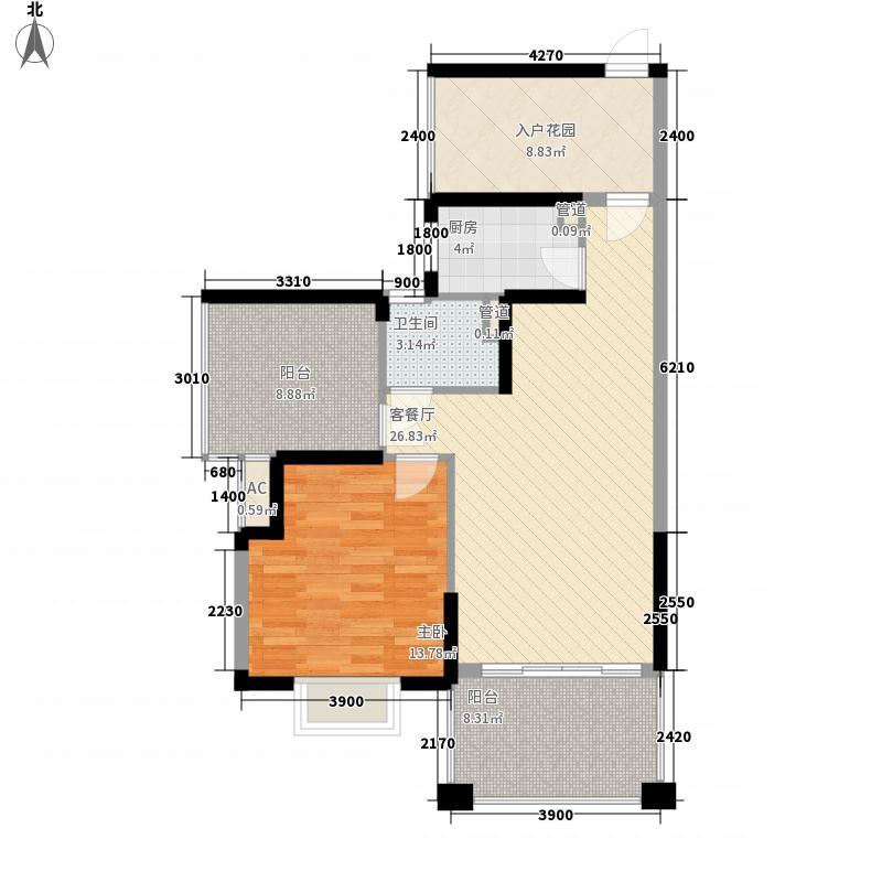 塞维亚海岸89.00㎡塞维亚海岸户型图09栋D户型1室2厅1卫1厨户型1室2厅1卫1厨