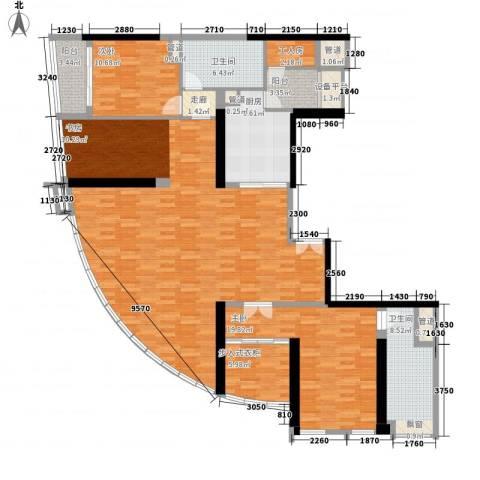 朱美拉公寓2室1厅2卫1厨203.00㎡户型图