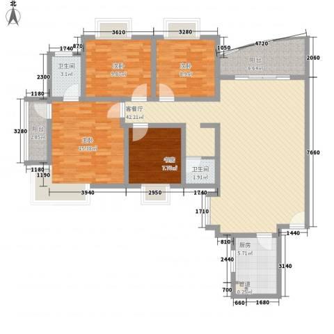 明星村4室1厅2卫1厨149.00㎡户型图