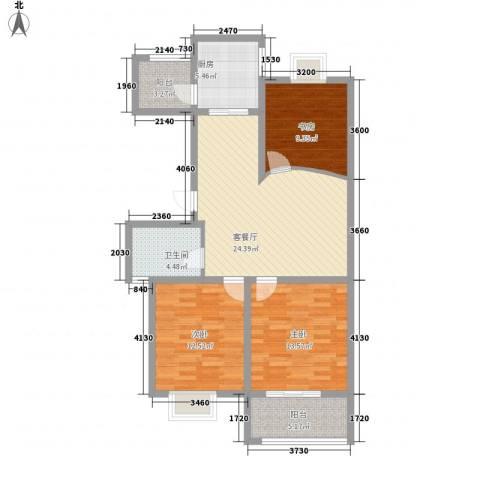 星鑫家园3室1厅1卫1厨112.00㎡户型图