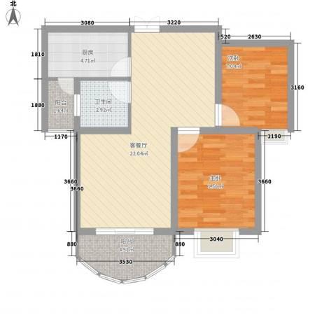 春晖路南纺机小区2室1厅1卫1厨78.00㎡户型图
