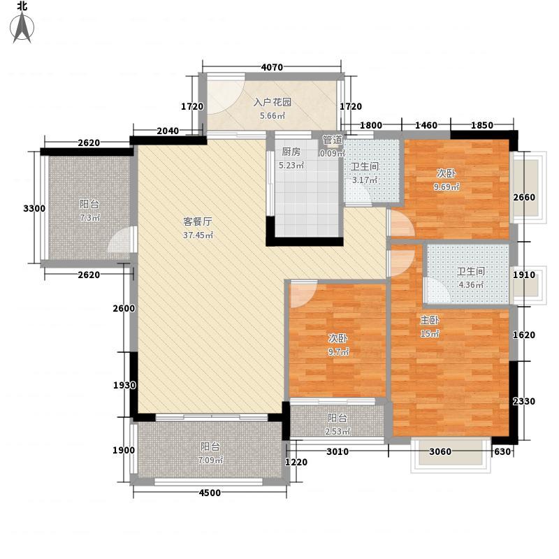 天鹅湾137.00㎡爱琴心岸12栋6-20层标准层03户型3室2厅2卫1厨