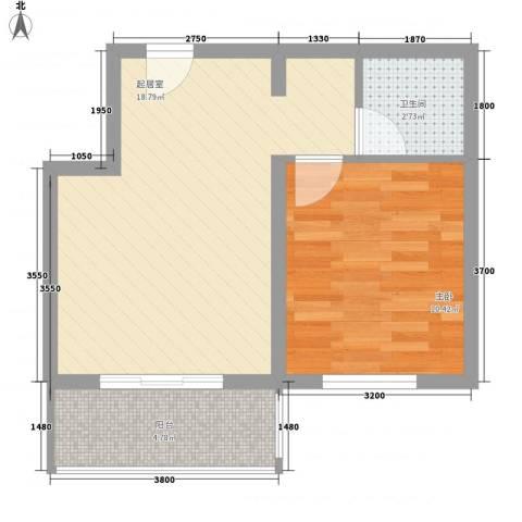 梦驼梁1室0厅1卫0厨42.08㎡户型图