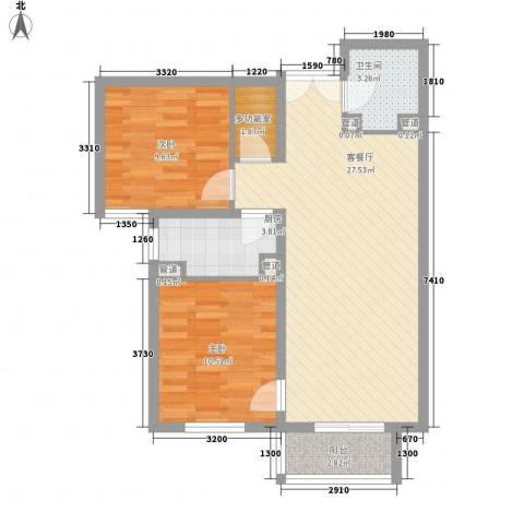 建工・郭庄家园2室1厅1卫1厨69.10㎡户型图