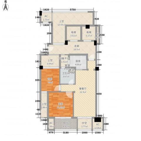 绿城�园2室1厅1卫1厨100.23㎡户型图