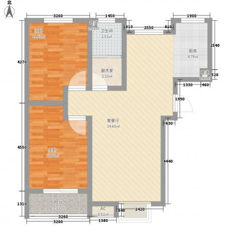 家合园二期2室1厅1卫0厨97.00㎡户型图