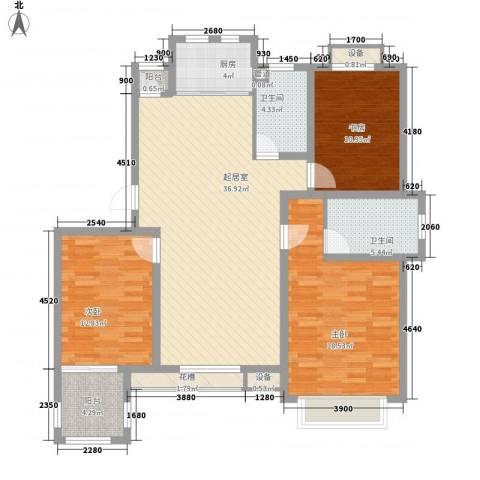 波塔东郡3室0厅2卫1厨101.15㎡户型图