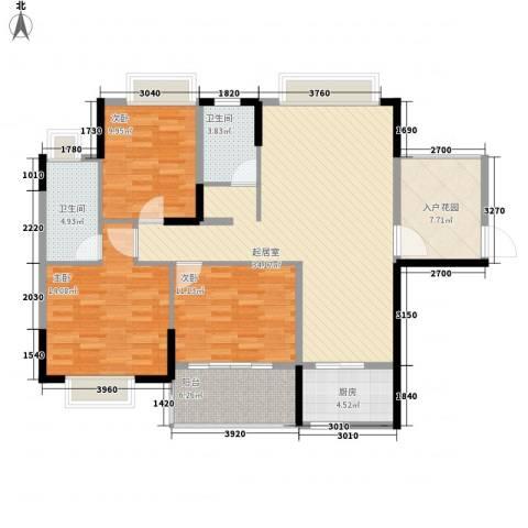 皇家公馆3室0厅2卫1厨124.00㎡户型图