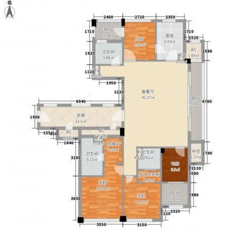 绿城�园4室1厅3卫1厨192.00㎡户型图