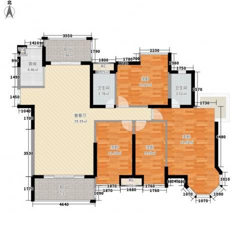 海景蓝湾4室1厅2卫1厨172.00㎡户型图