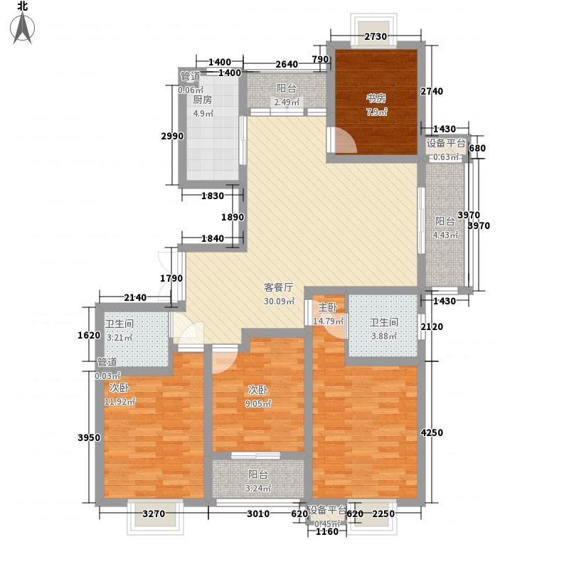 中意宝第141.89㎡中意宝第户型图户型图4室2厅2卫1厨户型4室2厅2卫1厨