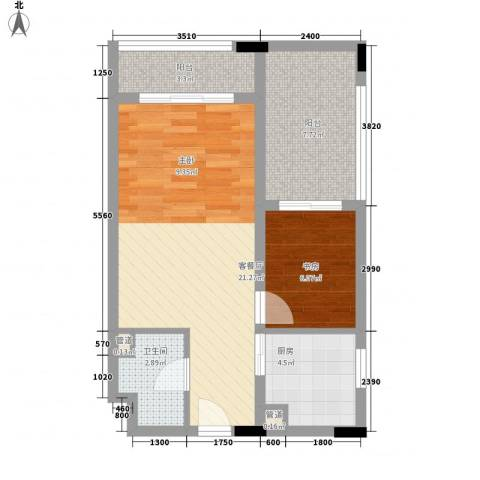 天成国际・金寓1室1厅1卫1厨66.00㎡户型图