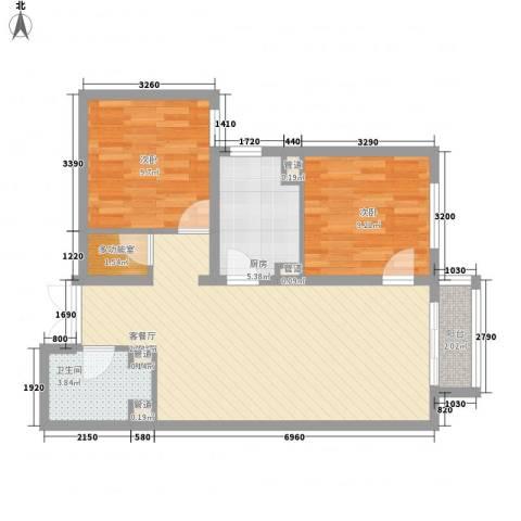 建工・郭庄家园2室1厅1卫1厨69.01㎡户型图