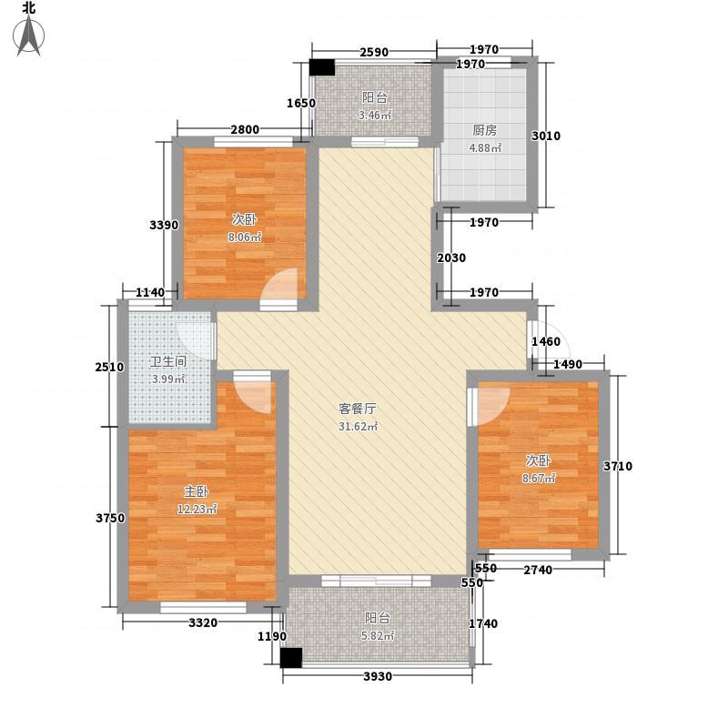 华业苑103.00㎡华业苑3室户型3室